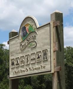 Otter Springs sign