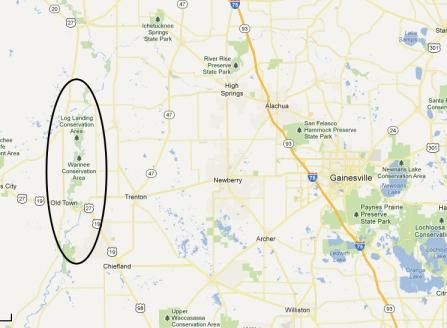 Suwannee Springs Map