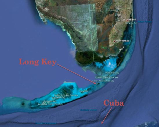 Long Key map