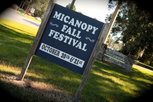 Micanopy Fall Festival sign